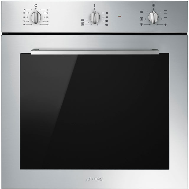 Smeg Cucina SF64M3VX Built In Electric Single Oven - Stainless Steel - A Rated - SF64M3VX_SS - 1