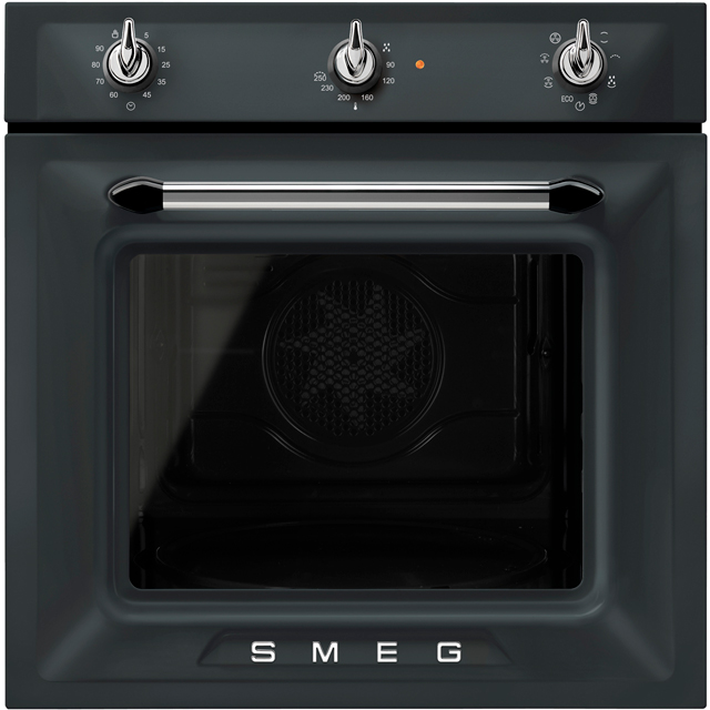 Smeg Victoria SF6905NO1 Built In Electric Single Oven - Matte Black - A Rated - SF6905NO1_MB - 1