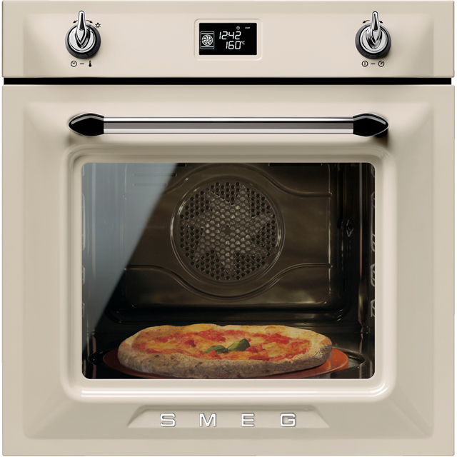 Smeg Victoria SF6922PPZE1 Built In Electric Single Oven - Cream - A+ Rated - SF6922PPZE1_CR - 1
