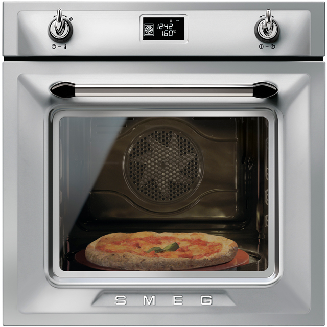 Smeg Victoria SF6922XPZE1 Built In Electric Single Oven - Silver - A+ Rated - SF6922XPZE1_SI - 1