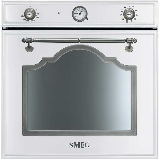 Smeg Cortina Electric Single Oven - White / Silver - A Rated