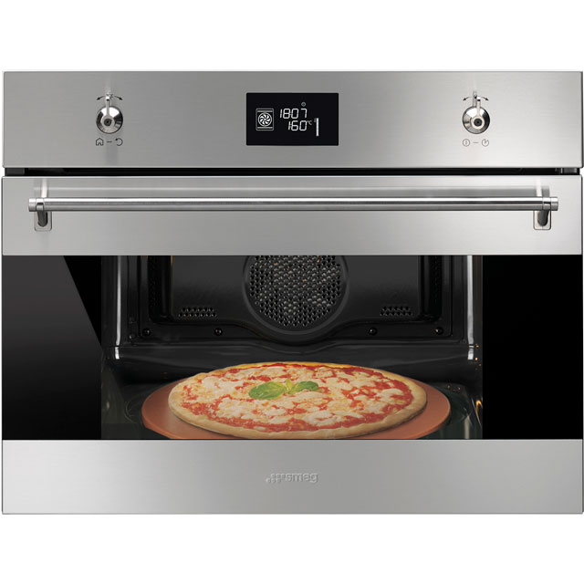 Smeg Classic SFP4390XPZ Built In Compact Electric Single Oven - Stainless Steel - A+ Rated - SFP4390XPZ_SS - 1