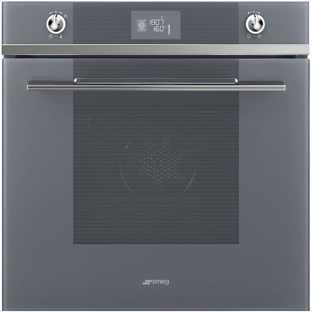 Smeg Linea SFP6102TVS Built In Electric Single Oven - Silver - SFP6102TVS_SI - 1