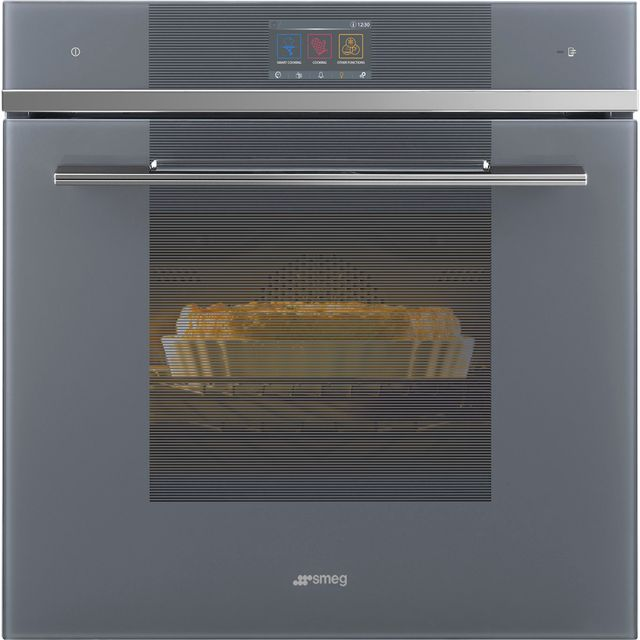 Smeg Linea SFP6104WTPS Built In Electric Single Oven - Silver - SFP6104WTPS_SI - 1