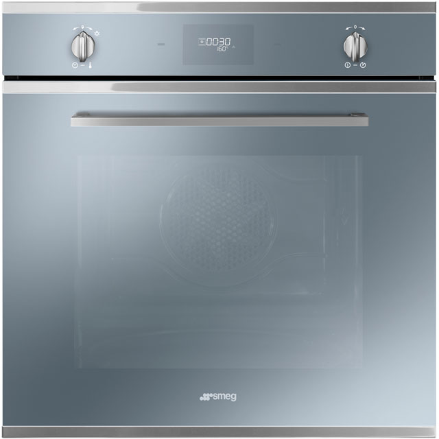 Smeg Cucina SFP6401TVS Built In Electric Single Oven - Silver Glass - A Rated - SFP6401TVS_SG - 1