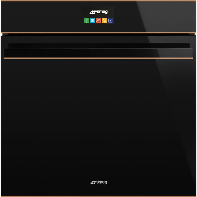 Smeg Dolce Stil Novo SFP6604STNR Built In Electric Single Oven with added Steam Function - Black / Copper - A+ Rated