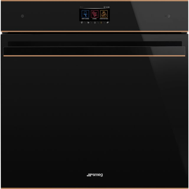 Smeg Dolce Stil Novo SFP6604WTPNR Built In Electric Single Oven - Black / Copper - SFP6604WTPNR_BKC - 1