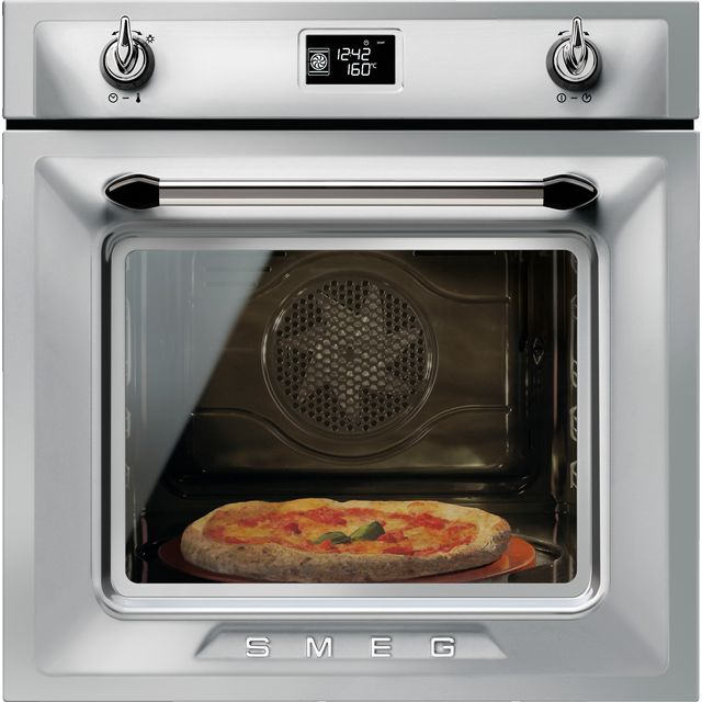 Smeg Victoria SFP6925XPZE1 Built In Electric Single Oven - Silver - A+ Rated - SFP6925XPZE1_SI - 1