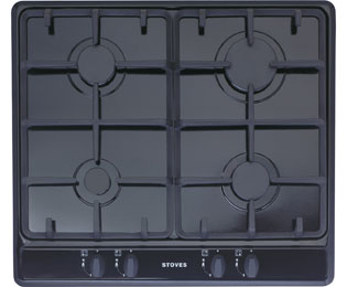 Stoves SGH600C 58cm Gas Hob - Black