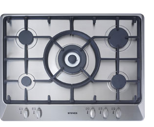 Stoves SGH700C 68cm Gas Hob - Stainless Steel