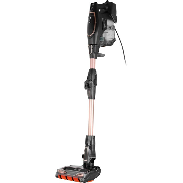 Shark DuoClean Corded with True Pet and Flexology HV390UKT Upright Vacuum Cleaner in Black / Rose Gold