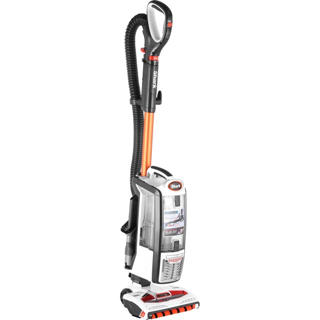 Shark DuoClean with Powered Lift Away NV801UK Upright Vacuum Cleaner in White / Orange