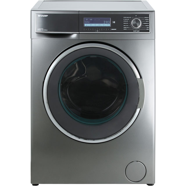 Sharp ES-HDD1047A0 10Kg / 6Kg Washer Dryer with 1400 rpm - Dark Silver - A Rated - ES-HDD1047A0_DSI - 1