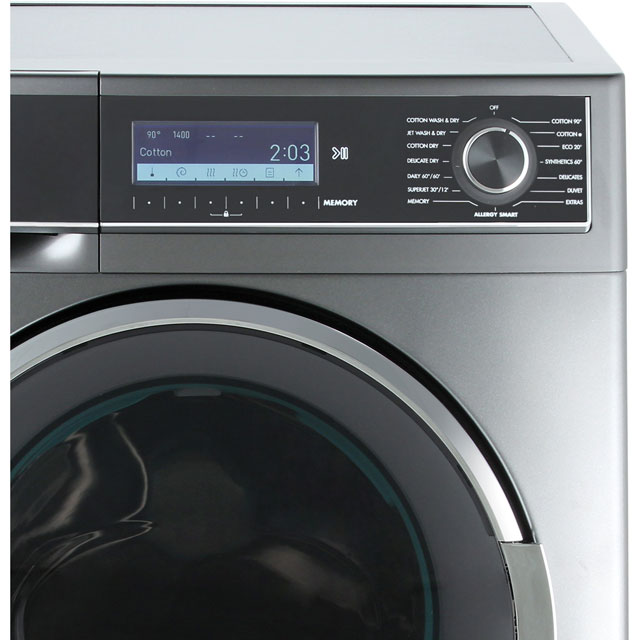 Sharp ES-HDD1047A0 10Kg / 6Kg Washer Dryer - Dark Silver - ES-HDD1047A0_DSI - 3