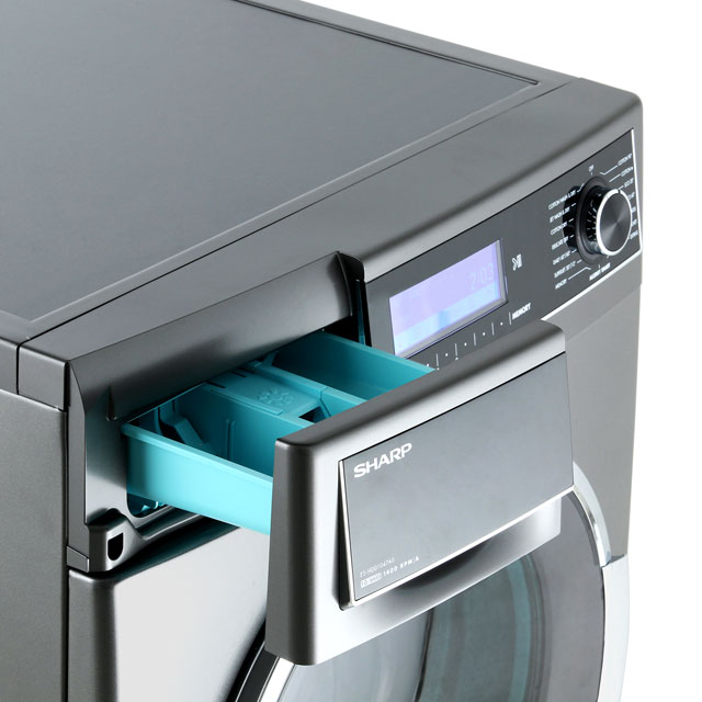 Sharp ES-HDD1047A0 10Kg / 6Kg Washer Dryer - Dark Silver - ES-HDD1047A0_DSI - 4