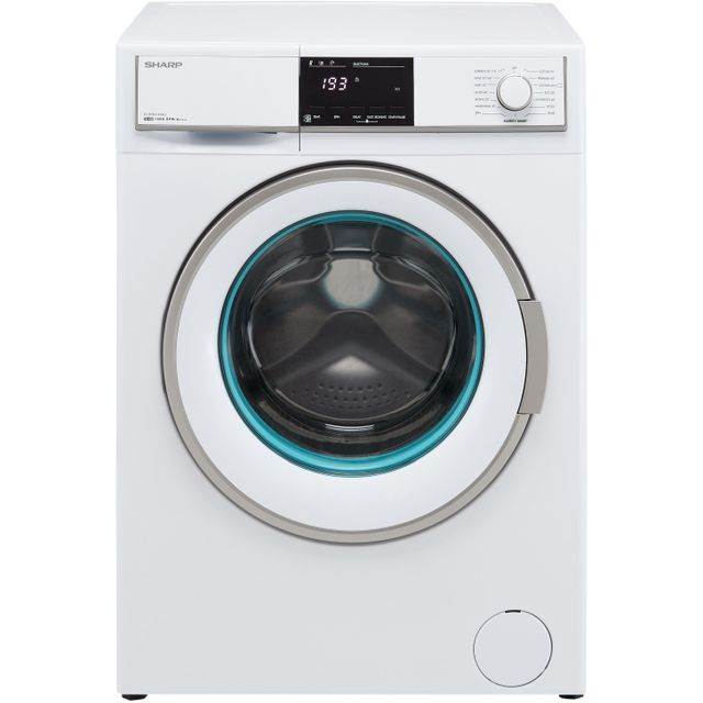 Sharp ES-HFB0143W3-EN 10Kg Washing Machine with 1400 rpm - White - A+++ Rated - ES-HFB0143W3-EN_WH - 1