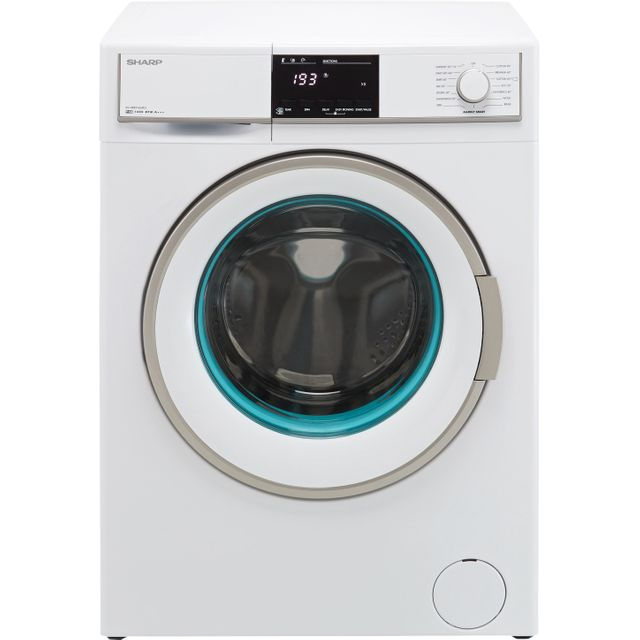Sharp ES-HFB9143W3-EN 9Kg Washing Machine with 1400 rpm - White - A+++ Rated - ES-HFB9143W3-EN_WH - 1