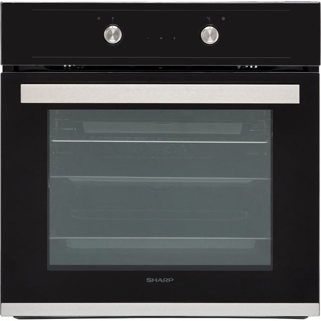 Sharp K-60D19BM1-EU Built In Electric Single Oven - Black - K-60D19BM1-EU_BK - 1