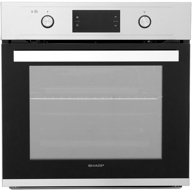 Sharp K-61V28IM1 Built In Electric Single Oven - Stainless Steel - A Rated - K-61V28IM1_IX - 1