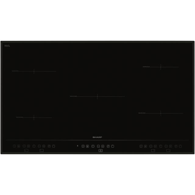 Sharp KH-9I26CT00 Built In Induction Hob - Black - KH-9I26CT00_BK - 1