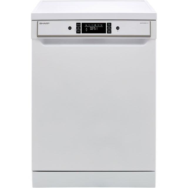 Sharp QW-HT31R452W Standard Dishwasher - White - A++ Rated - QW-HT31R452W_WH - 1