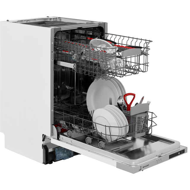 Sharp QW-S12I492X Fully Integrated Slimline Dishwasher - Stainless Steel - QW-S12I492X_SS - 5