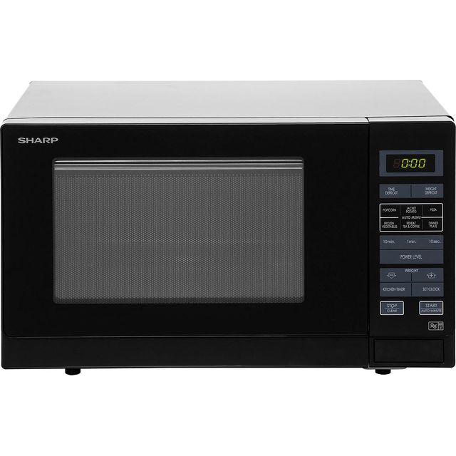 Sharp R372KM 25 Litre Solo Microwave, Black