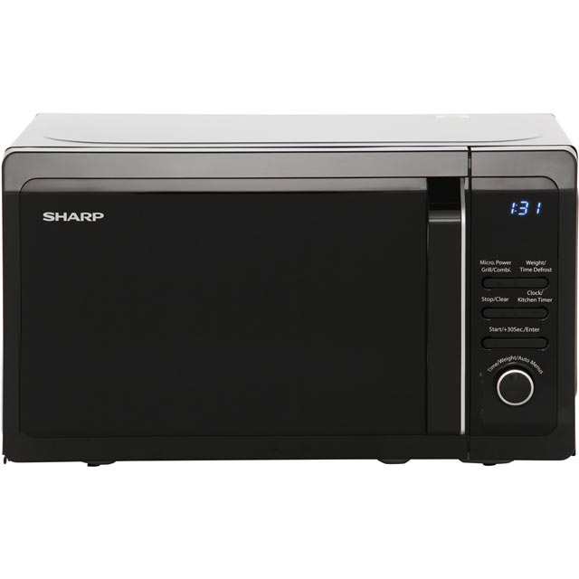 Sharp R664KM 20 Litre Microwave With Grill - Black - R664KM_BK - 1