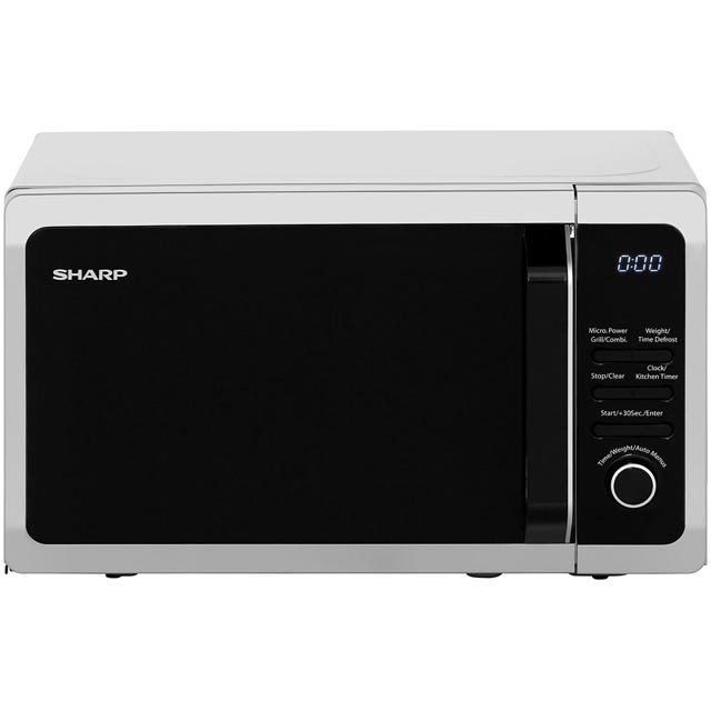 Sharp R664SLM 20 Litre Microwave With Grill - Silver