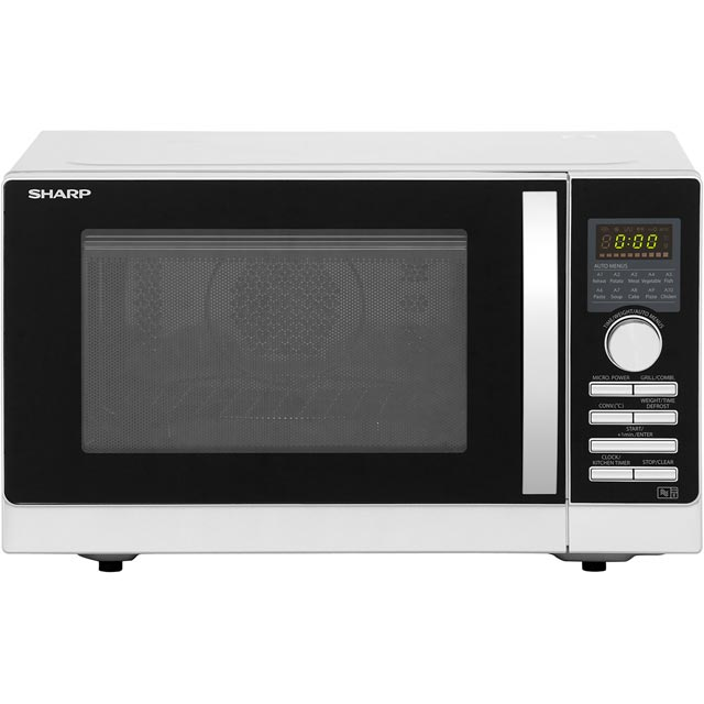 Sharp R843SLM 25 Litre Combination Microwave Oven - Silver - R843SLM_SI - 1