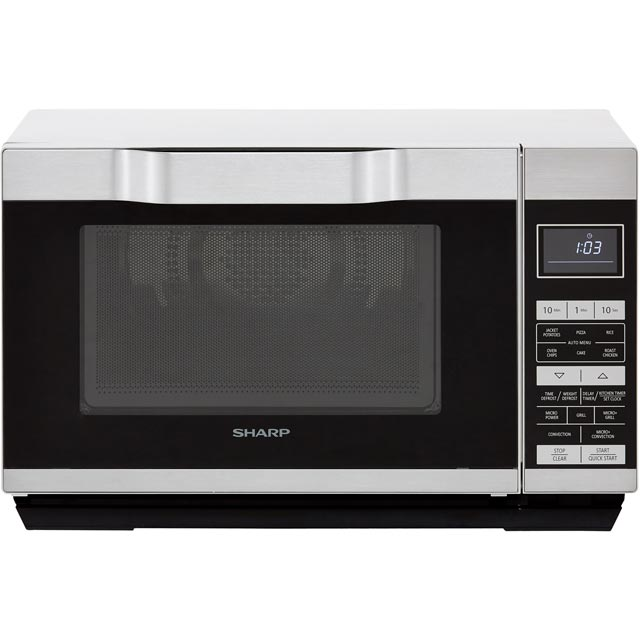 Sharp R861SLM 25 Litre Combination Microwave Oven - Silver - R861SLM_SI - 1