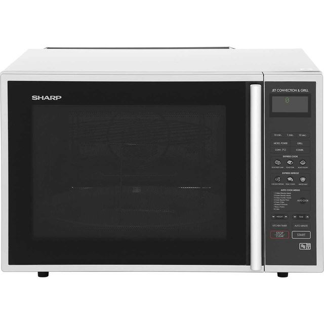 Sharp R959SLMAA 40 Litre Combination Microwave Oven - Silver / Black - R959SLMAA_SS - 1