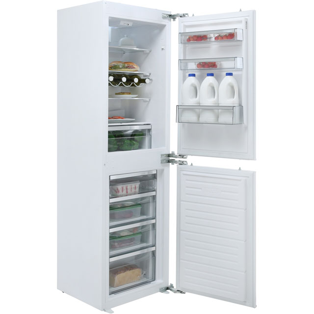 Sharp Integrated 50/50 Frost Free Fridge Freezer with Fixed Door Fixing Kit - White - A+ Rated