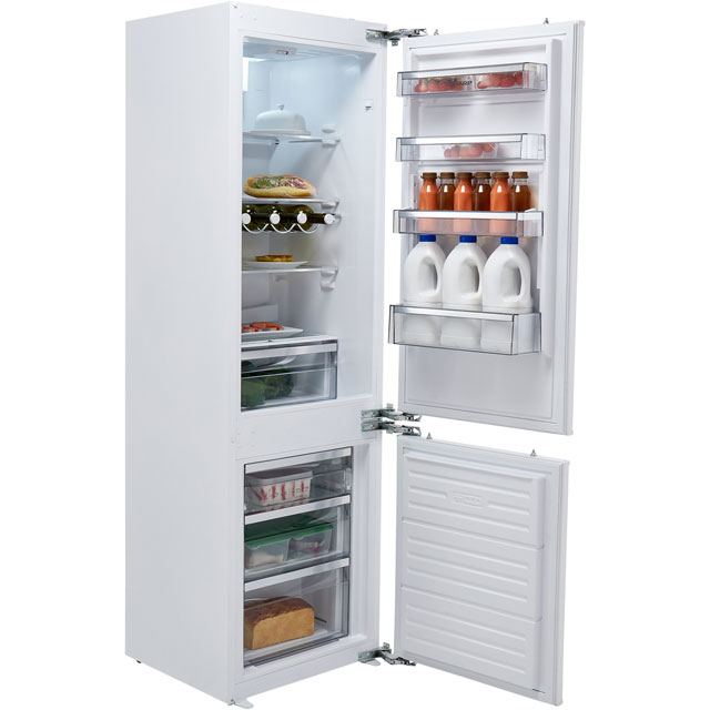 Sharp SJ-B1237M00X-EN Integrated 60/40 Frost Free Fridge Freezer with Fixed Door Fixing Kit - White - A+ Rated Best Price, Cheapest Prices