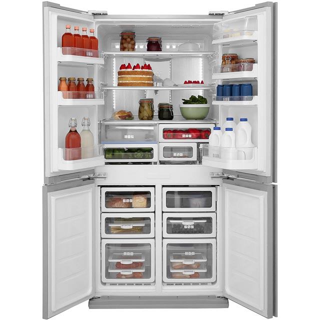 Sharp SJ-FS820VSL American Fridge Freezer - Silver - SJ-FS820VSL_SI - 4