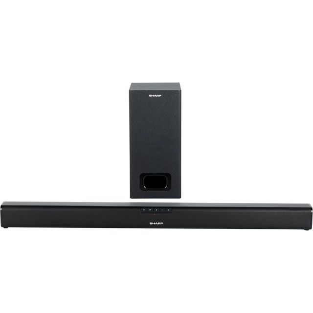Sharp HT-SBW110 Bluetooth Soundbar with Wired Subwoofer - Black - HT-SBW110 - 1