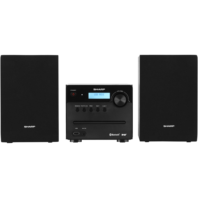 Sharp XL-B515D 30 Watt Micro Hi Fi System with Bluetooth - Black - XL-B515D_BK - 1