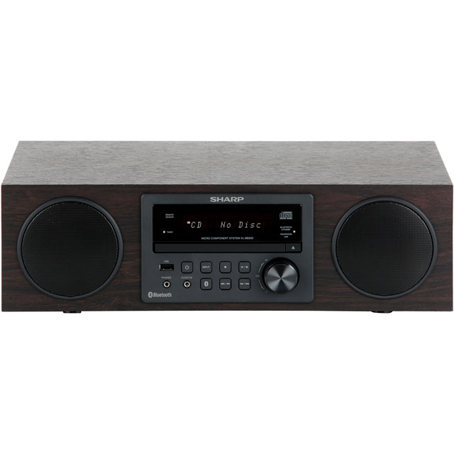 Sharp XL-BB20D 100 Watt All in One Hi Fi System with Bluetooth - Brown - XL-BB20D_BR - 1