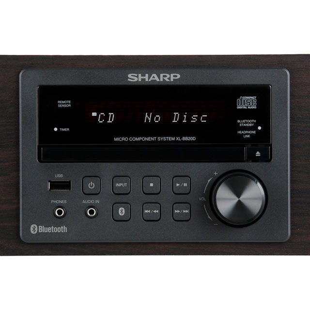 Sharp XL-BB20D Hi-Fi System - Brown - XL-BB20D_BR - 4
