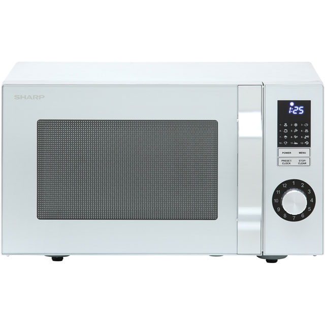 Sharp Microwave R244SLM Free Standing Microwave Oven in Silver