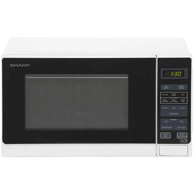 Sharp Microwave R272WM Free Standing Microwave Oven in White