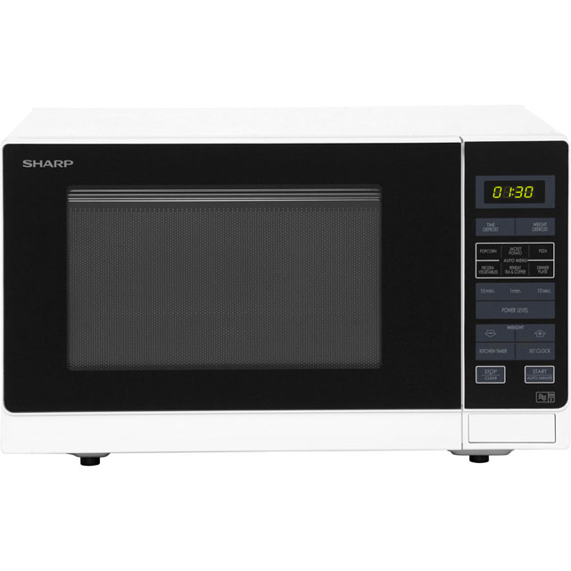 Sharp R372WM 25 Litre Microwave - White
