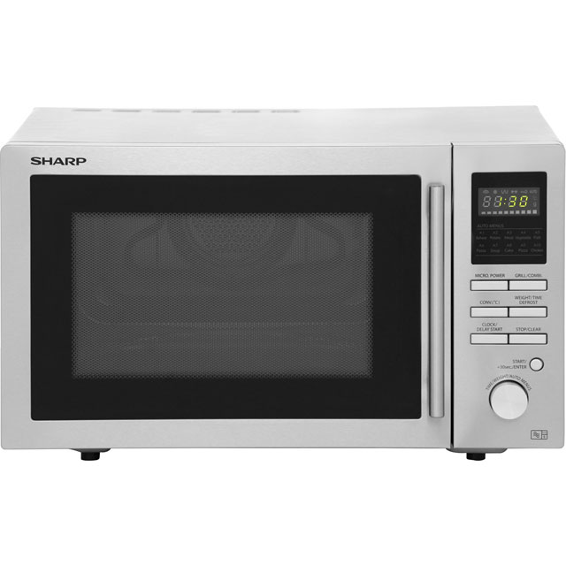 Sharp R82STMA 25 Litre Combination Microwave Oven - Stainless Steel - R82STMA_SS - 1