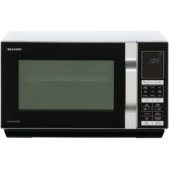 Sharp R890S 28 Litre Combination Microwave Oven - Silver - R890S_SI - 1