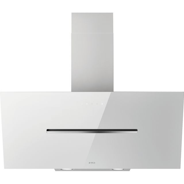 Elica SHY-WH-90 90 cm Chimney Cooker Hood - White Glass - A Rated