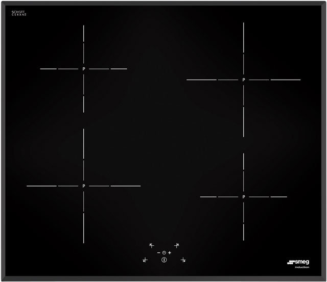Smeg SI5643B 60cm Induction Hob - Black - SI5643B_BK - 1