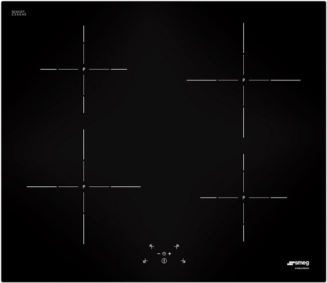 Smeg SI5643D Integrated Electric Hob in Black