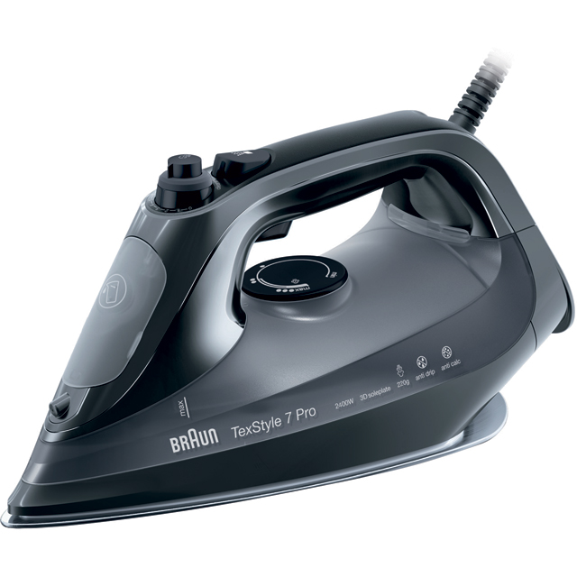 Braun SI7042BK 2400 Watt Steam Iron -Black - SI7042BK_BK - 1