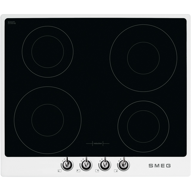 Smeg Victoria SI964BM Built In Induction Hob - White - SI964BM_WH - 1