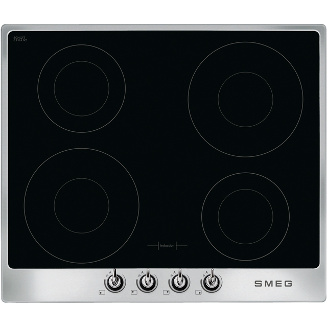 Smeg Victoria SI964XM Built In Induction Hob - Silver - SI964XM_SI - 1